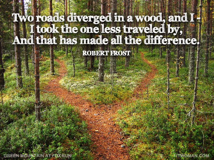 Robert Frost quote background