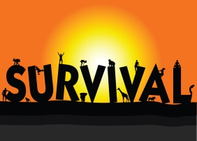people and survival illustration