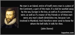 Donne - no man island