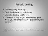 pseudo-love