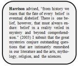 Harrison mysteries